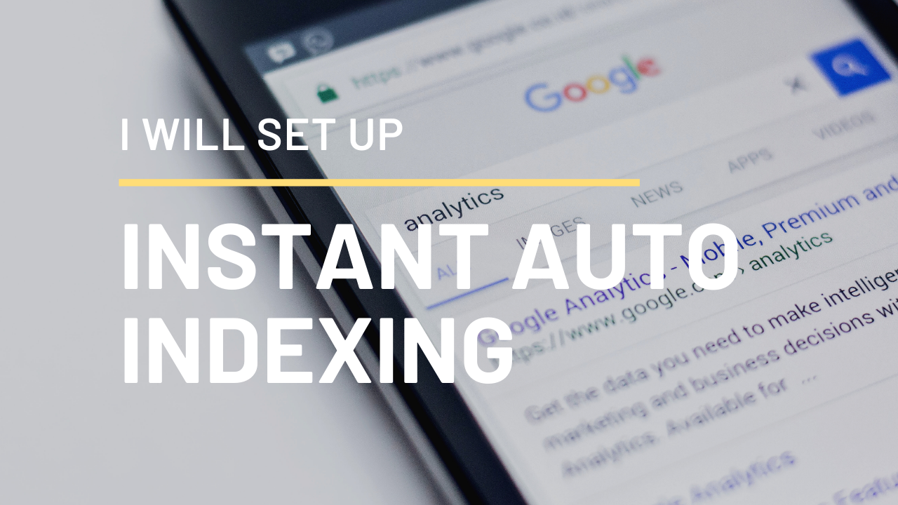 I will Set up auto index for your WordPress blog that will index your site instantly when you post