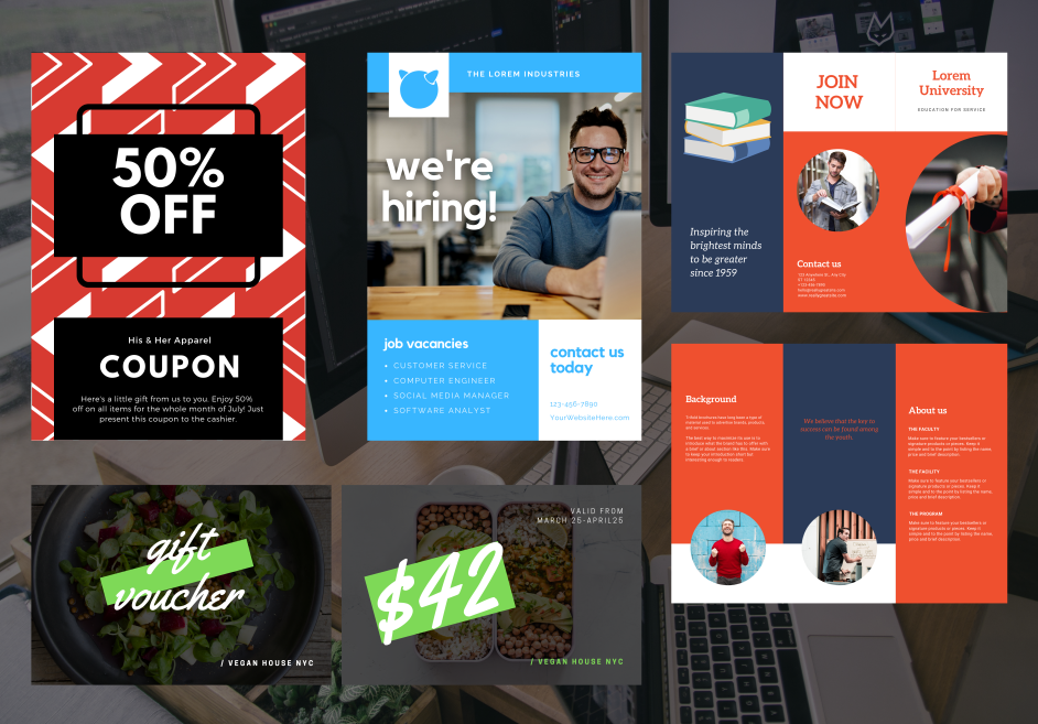 Social media ads banners posts feed stories posters cover editable templates Canva editing Websites