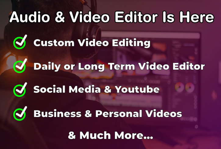 Videos Editor Adobe Premiere Youtube Tik Tok Instagram Twitter Wedding Personal Business compilation