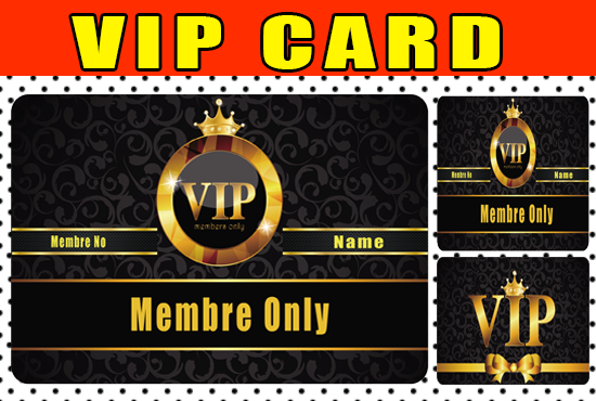 design luxury vip card or a luxury vip membreship card