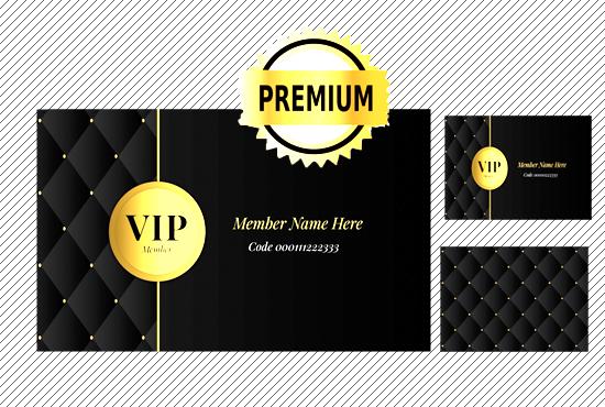 design luxury vip card or a luxury vip membreship card