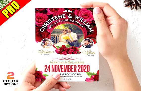 i will design amazing wedding invitation for The wedding of your dreams