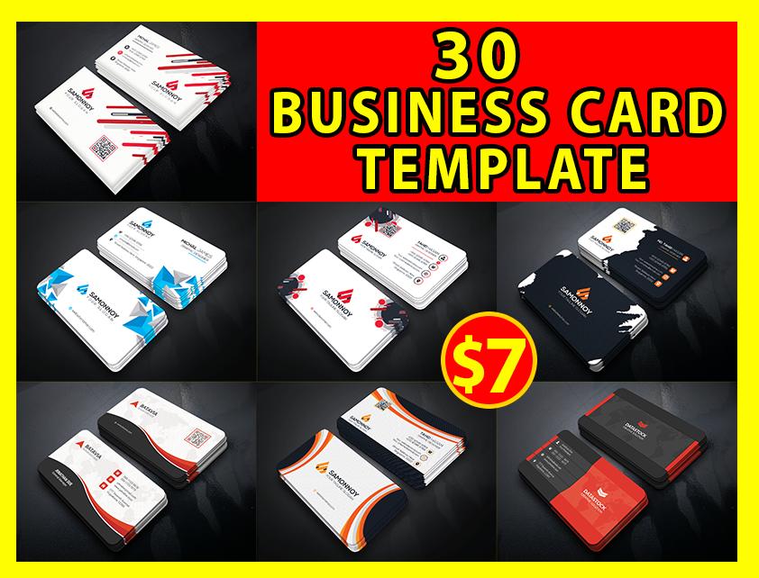 30 premium businees card template bundle pack
