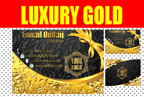 i will design a luxury business card for business