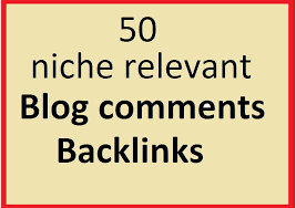 I will 50 niche relevants blogcomments