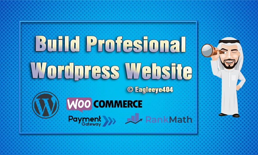 I will Build professional wordpress website design or Woocommerce