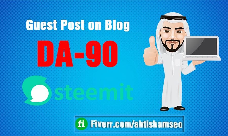 I do Guest Post on Blog Steemit DA-90