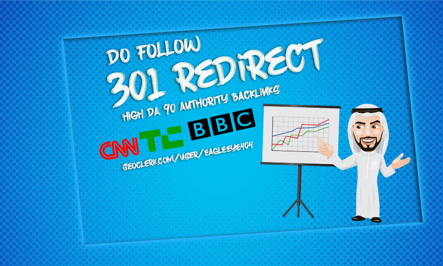 I will provide dofollow 301 redirect high da 90 authority backlinks Boost you Google Ranking