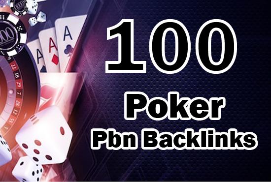 100 Casino/Poker/Gambling Pbn Backlinks on high authority sites