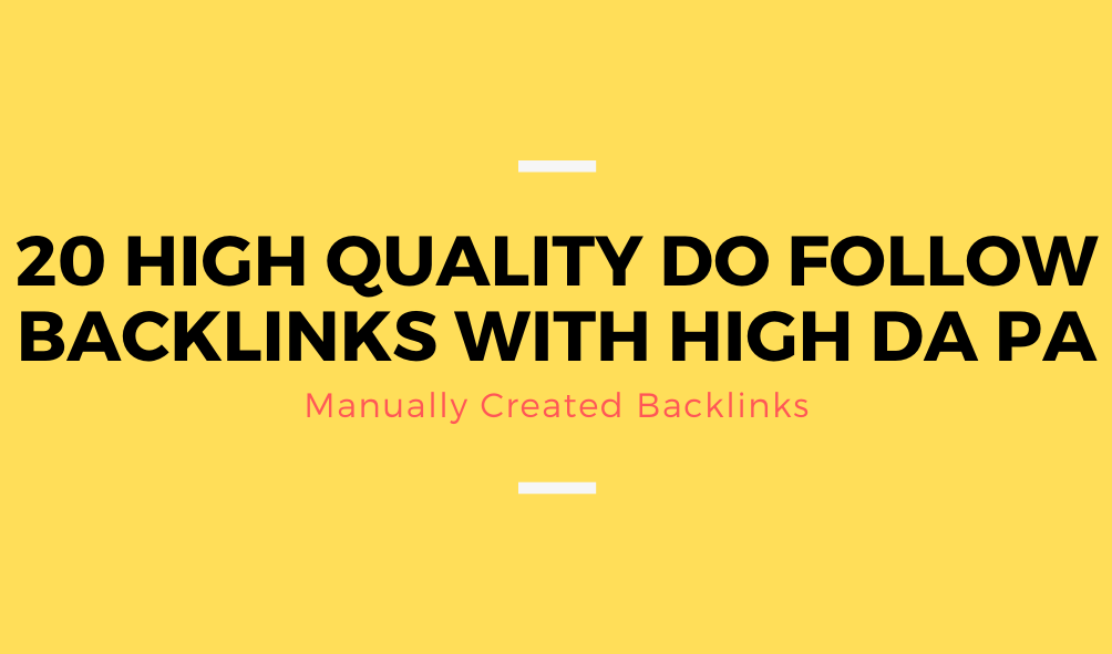 20 High Quality Manually Created Do Follow Comment Backlinks With High Da Pa