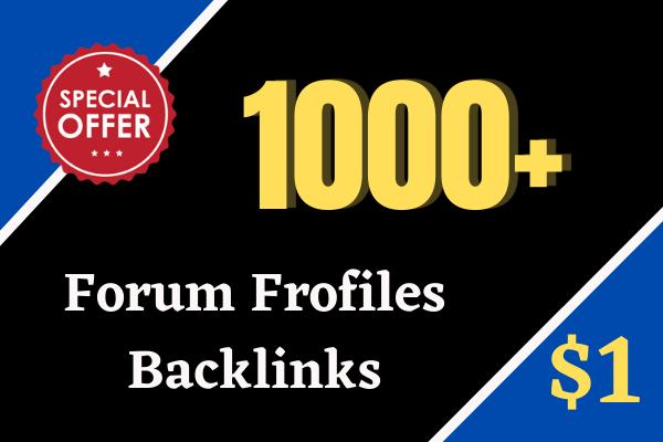 Create 1000 High Quality Forum profiles backlinks