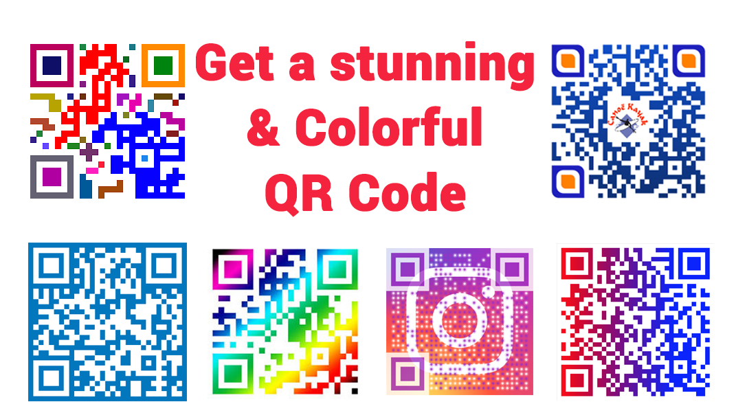 I will create a professional colorful/black & white QR CODE for you.