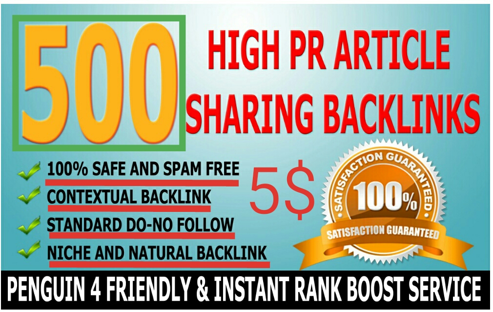 I will create 500 Do-follow High PR4-PR7 Backlinks for your website