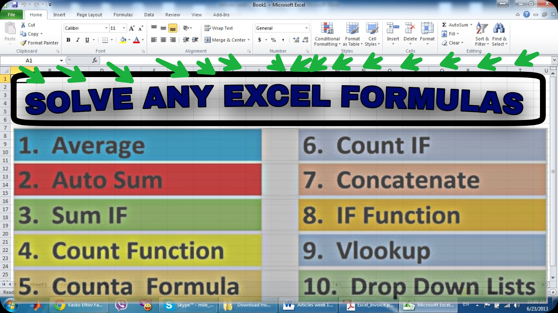 I can solve any excel formulas immediately