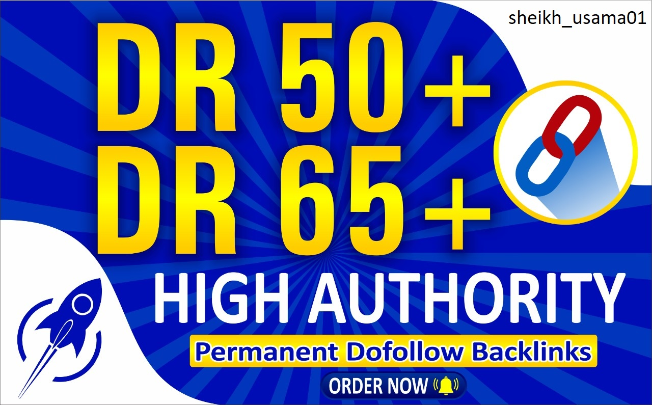 5 Permanent SEO Dofollow Backlinks with high authority