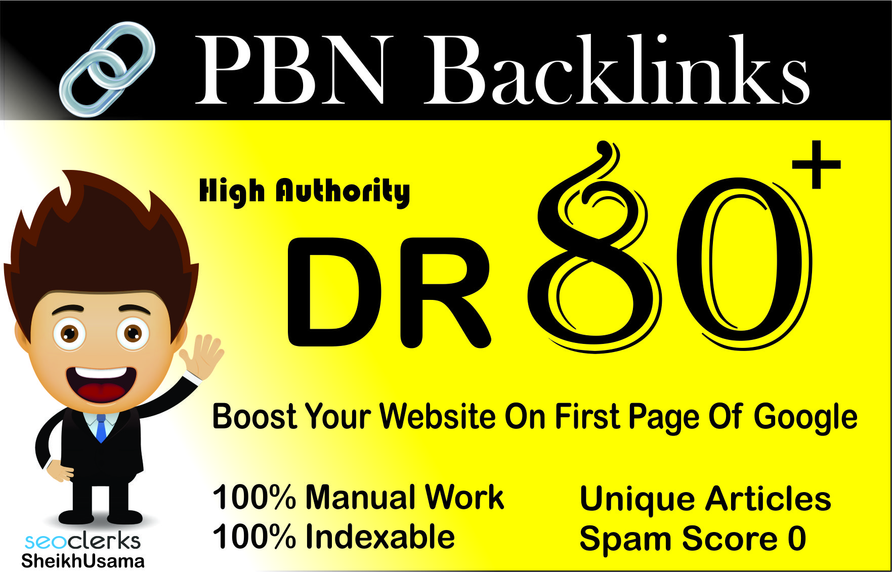 I Will Manually create, Powerfull, Permanent Homepage High Authority (1) DR 80 PBN Backlinks