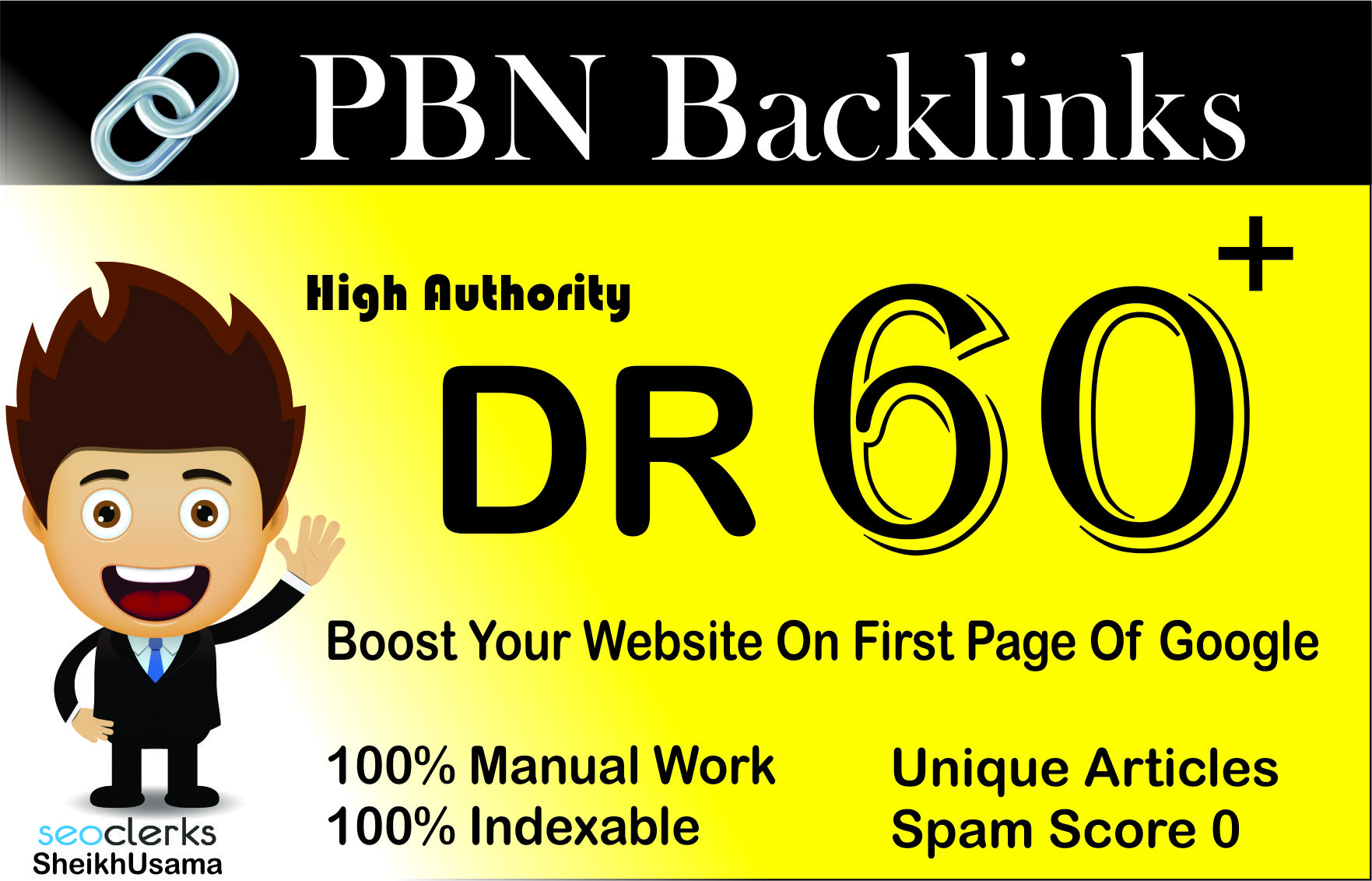 I Will Create Using 2 High Quality DR 60+ HOMEPAGE DOFOLLOW PBN BACKLINKS
