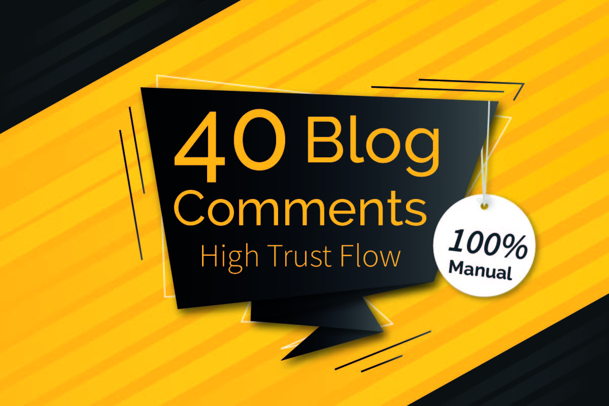 I will create 40 trust flow blog comments backlinks