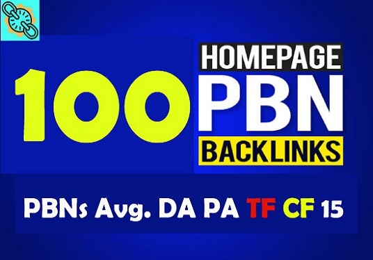 provide 100 PBN DA 20 TO 25+ homepage dofollow authority backlinks