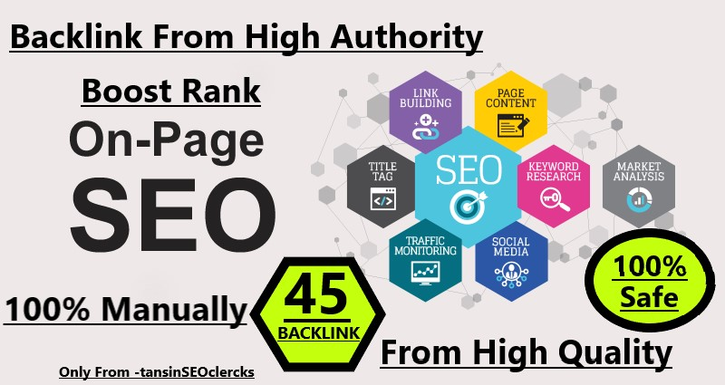 I will manually Do 45 Pr9-Pr7 High Safe SEO Backlink 2020 Best Result Ranking