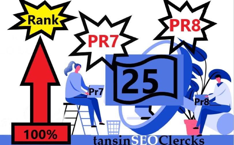 I Manually DO Pr7, Pr8 High Authority 25 Backlink