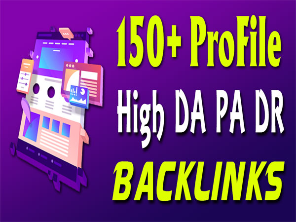 150 Dofollow High Authority SEO Profiles Backlinks
