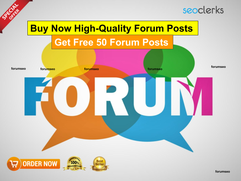 I will 250 high quality forum posts + Get free 50 forum posts