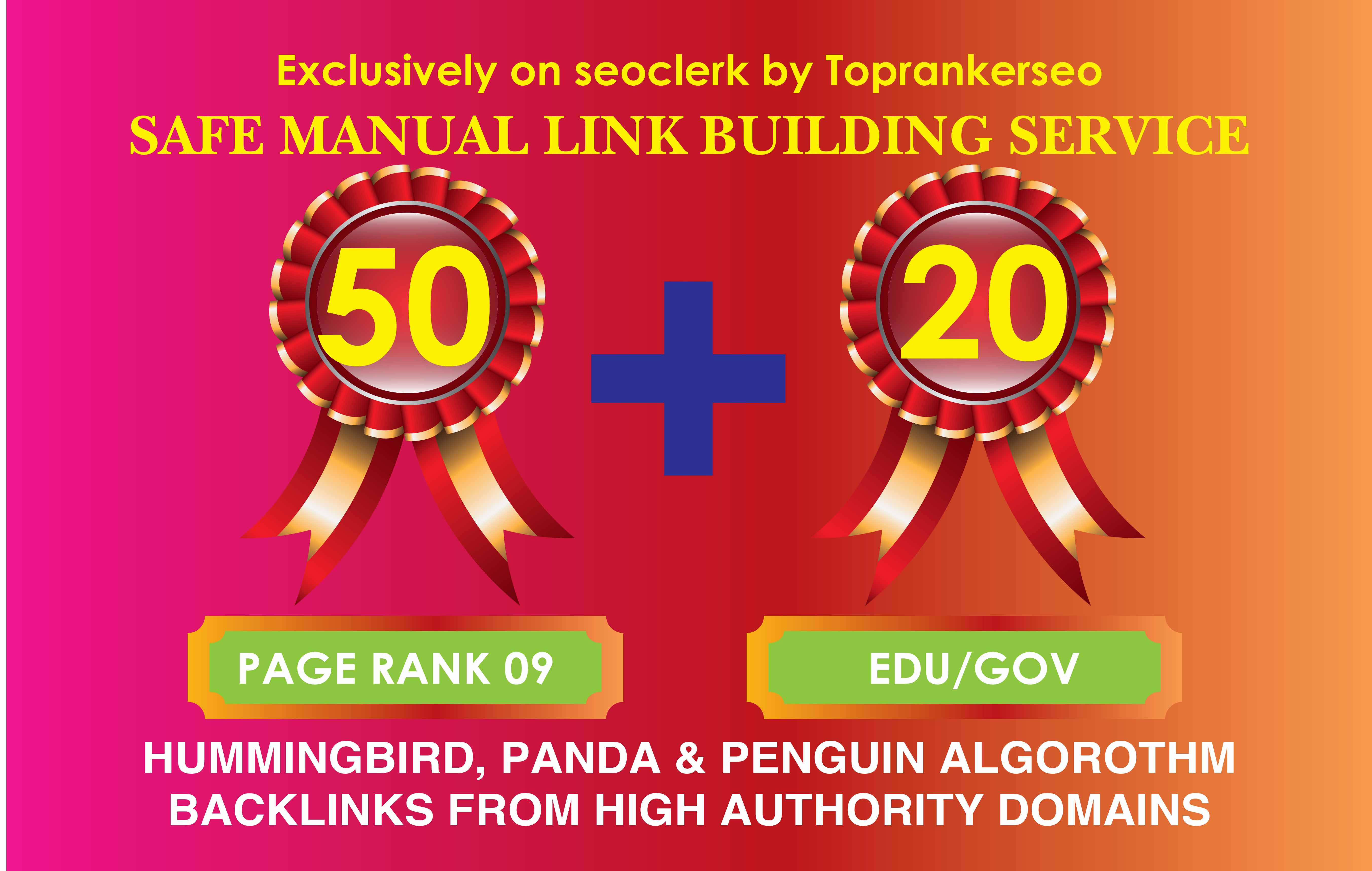 l will manually 50 pr9 +20 edu/gov sate seo backlink service 2020
