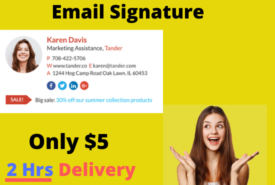 I will Create a clickable professional email signature