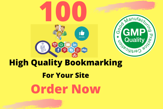 I will manually 100 bookmark submission backlinks,  high pa da cf tf