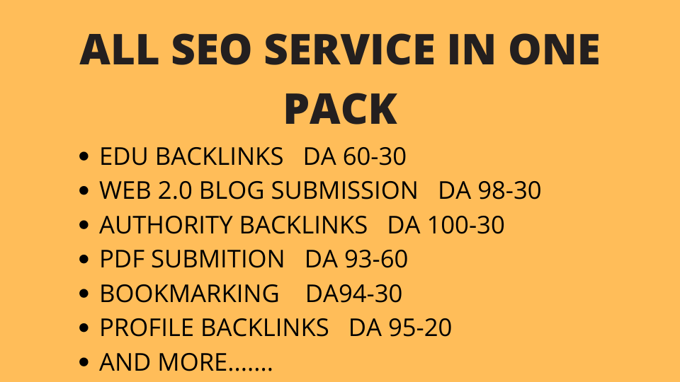 1000+ Excellent Quality Backlinks Pack In one service