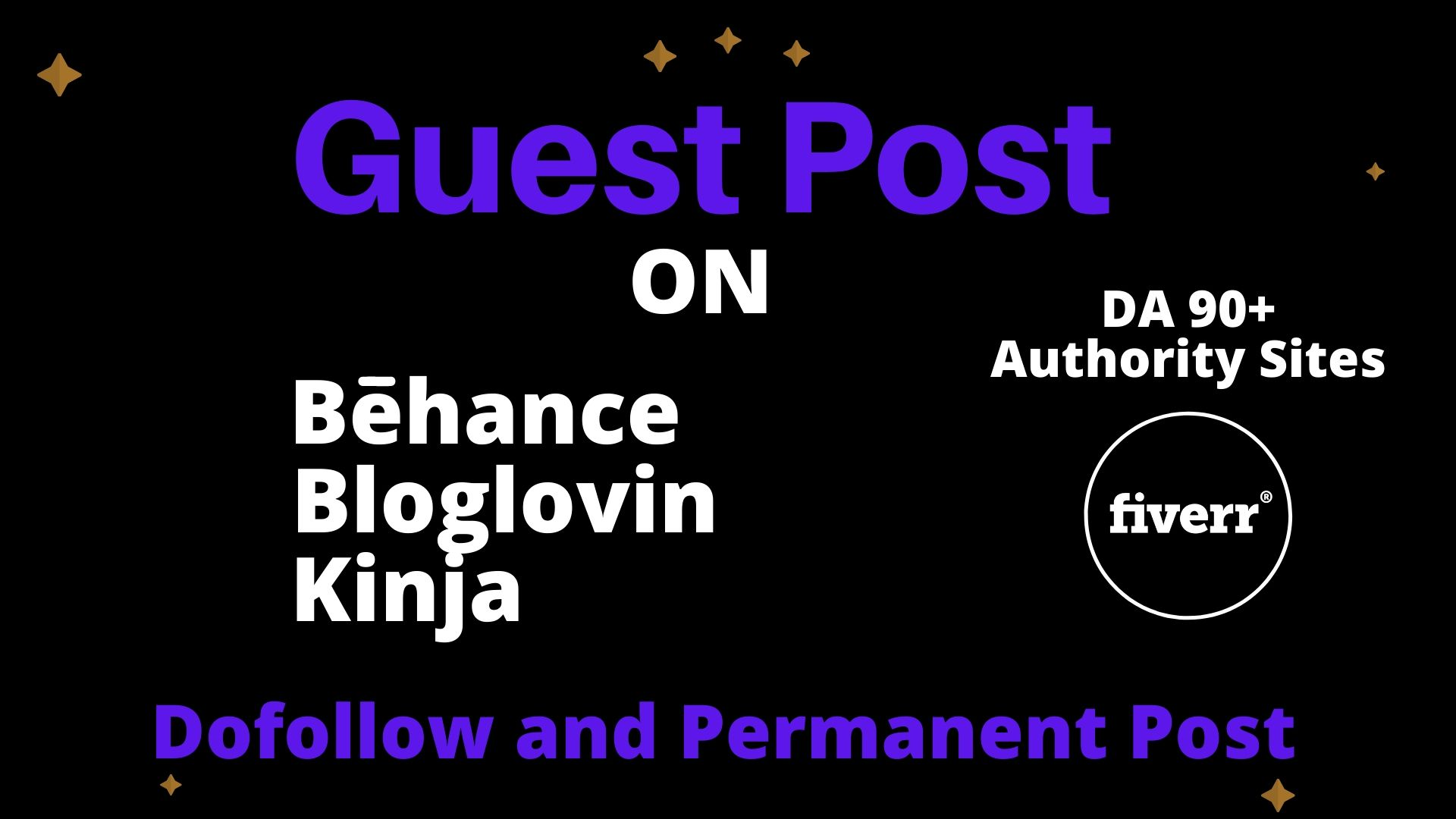 I will write and publish guest blog post on behance bloglovin and kinja with high quality backlinks