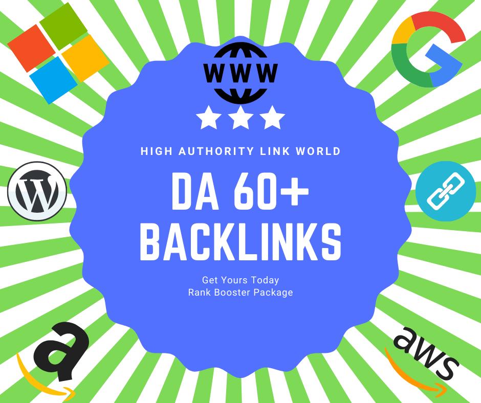 40 DA 60+ High Authority Contextual Backlinks