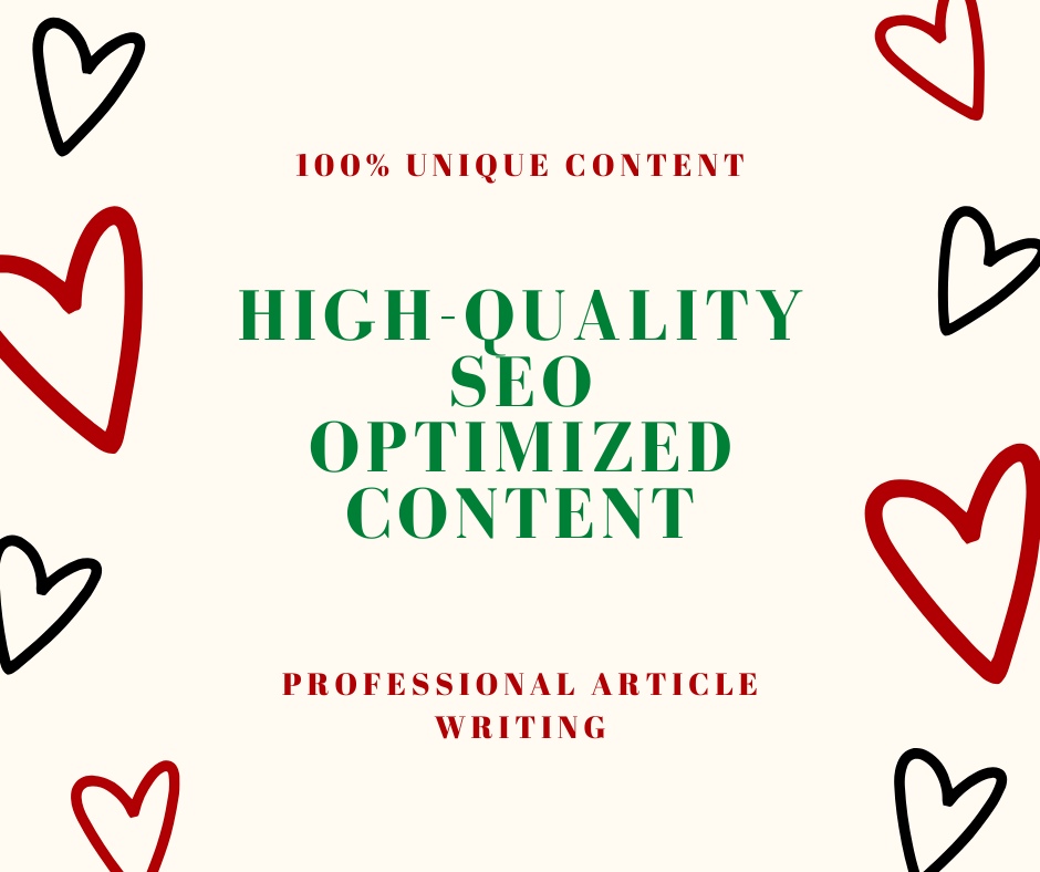 1000 Words High-Quality SEO Optimized Article, Blog Posts, Affiliate Articles For Any Niche
