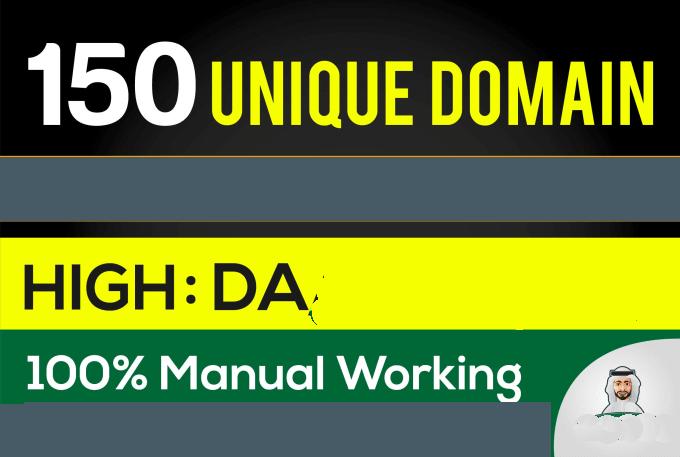 create 150 Unique Domain PR7 SEO BackIinks on DA100 sites Plus Edu. Gov Links