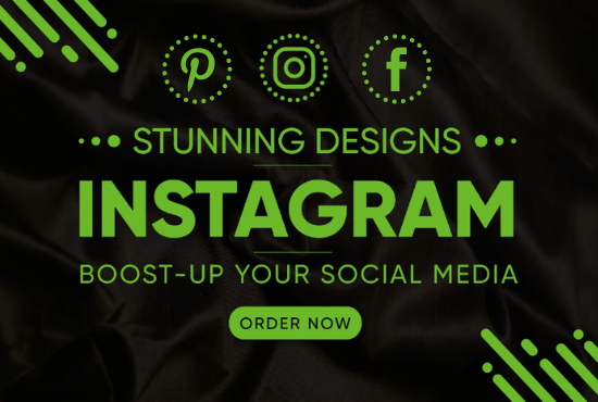 I will create and design posts for instagram and facebook