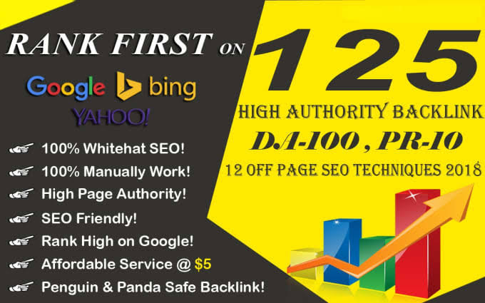 High quality 125High PR Web 2.0 Profile Backlinks
