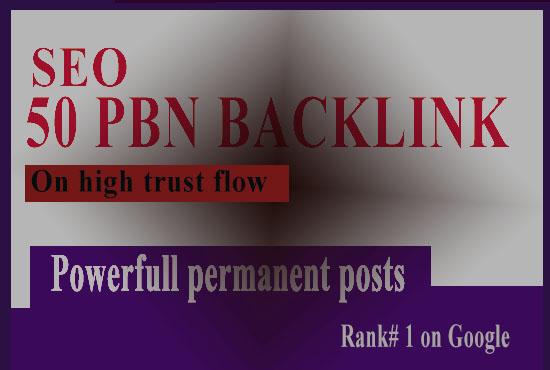 50 High PA/DA TF/CF Homepage PBN Backlinks for ranking on google