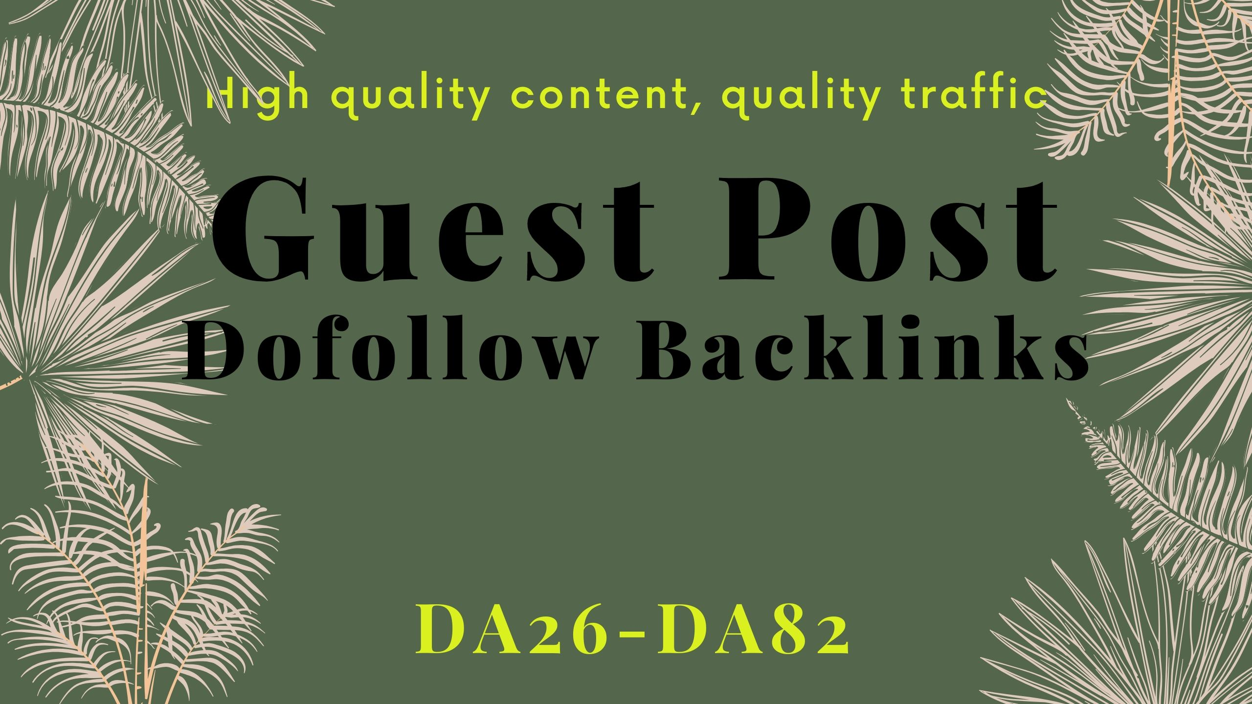 I will guest post on quality website