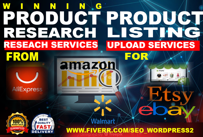 I will do 10 products listing on your store OR 10 product research for ebay, shopify
