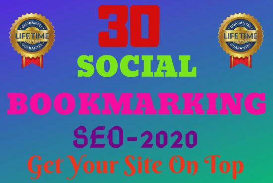 Guaranteed Top 30 Social Bookmarking Site SEO Backling
