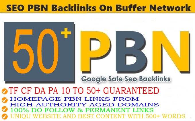 DA 35+ PA 35+ PR 5-9 Web2.0 50 Pbn Backlink in 100 dofollow in unique site