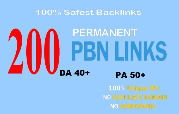 premium 200 Pbn Backlink homepage web 2.0 with permanent dofollow & High DA/PA