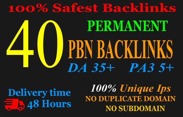 Build 40+ Permanent Web2.0 Backlink with High DA/PA/TF/CF On your homepage with unique website
