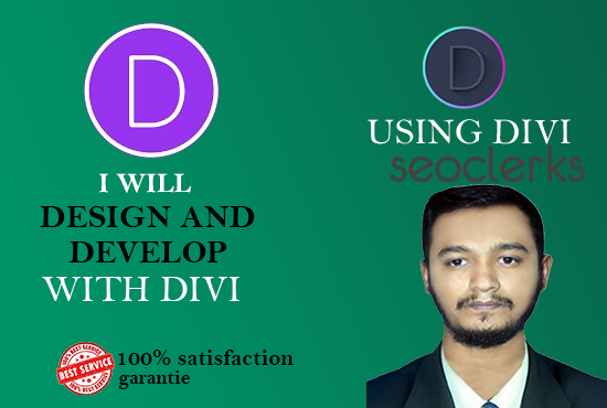 I will create wordpress website using divi theme