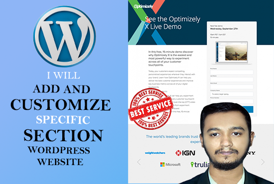 I will create an attractive wordpress landing page