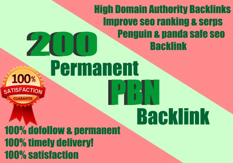 Build premium 200 PBN Backlink homepage web 2.0 with permanent dofollow Trustfollow