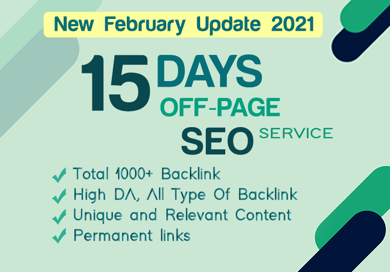 i will Help You To Get 1st Page On Google With 15 Days Off Page SEO backlinks Service