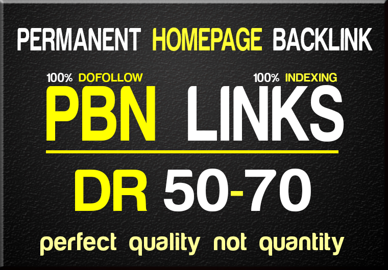I will do 10 Permanent DR 50 to 70 Dofollow Homepage PBN Backlinks to Increase your site's metrics