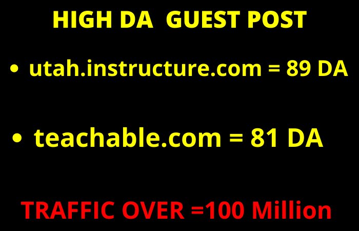 I will Write and Publish Guest Post on DA 80+ website with 100 million traffic
